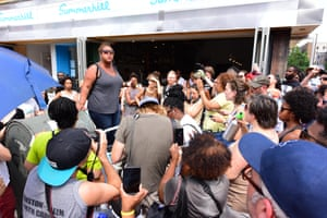 More than a hundred people gathered in Crown Heights, Brooklyn to protest gentrification in July 2017.