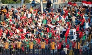 Madagascar fans celebrate after the win over Burundi