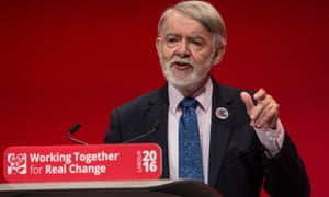 Paul Flynn addresses the Labour conference.