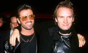 With Sting at Carnegie Hall, New York in 1993.