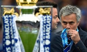 José Mourinho with the Premier League trophy