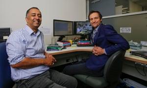 Researchers Ashish Sharma (left) and Conrad Wasko (right).