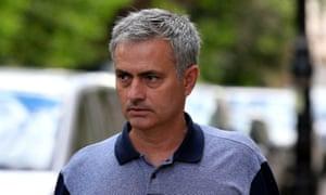Jose Mourinho's debuts a baby moustache.