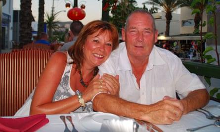 Jakki Smith with her former partner John Bulloch, who died in 2011.