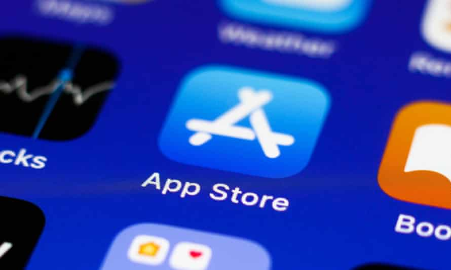 App Store icon is seen on an iPhone screen