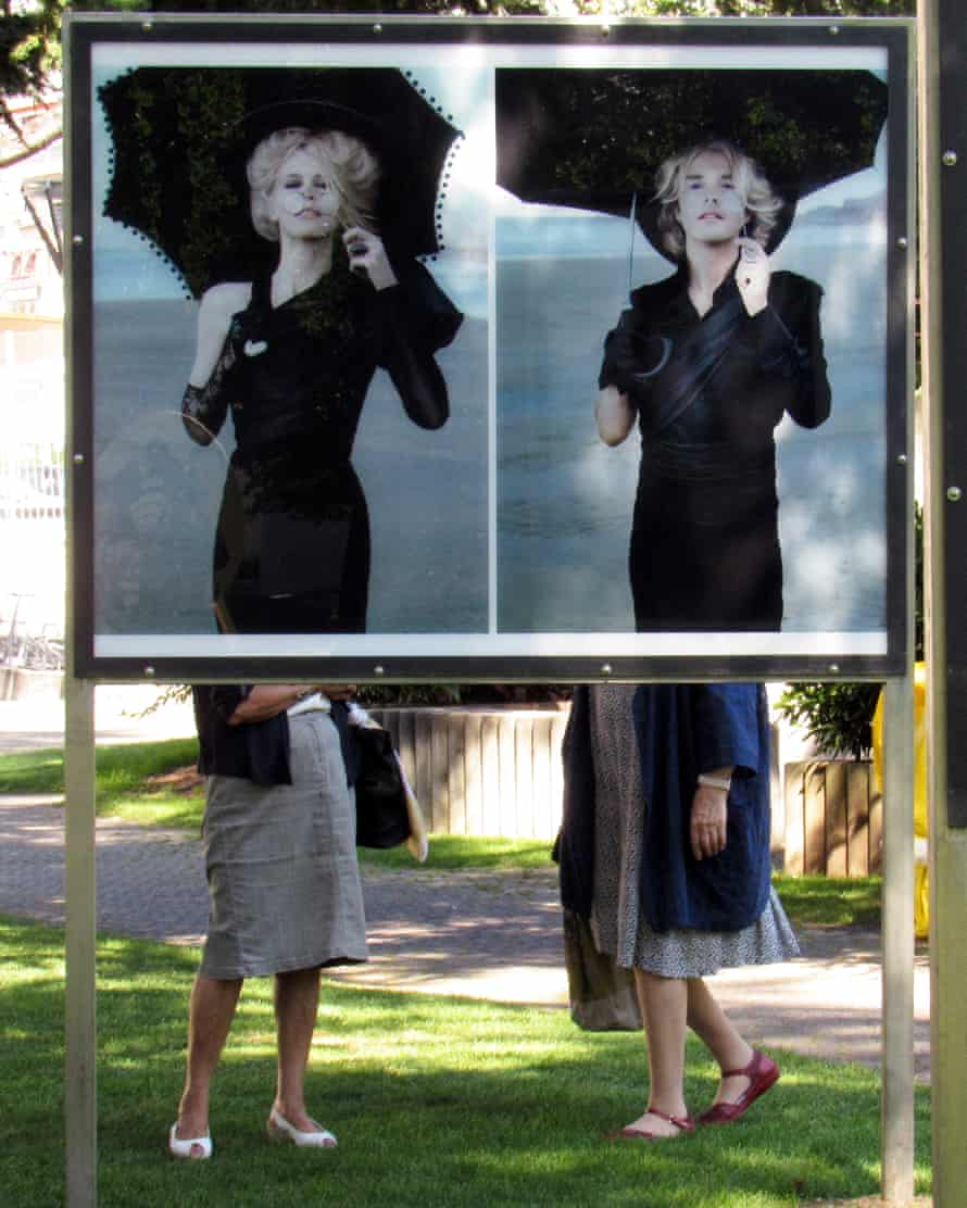 Hi There by Henry Leutwyler (left), the pages from Frank Sinatra's phone book are displayed in a phone booth