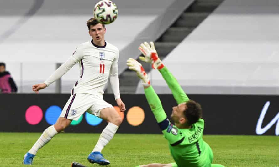 mason mount ingiltere için arnavutluk'a karşı gol attı