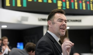A trader at work on at the LME's new HQ.