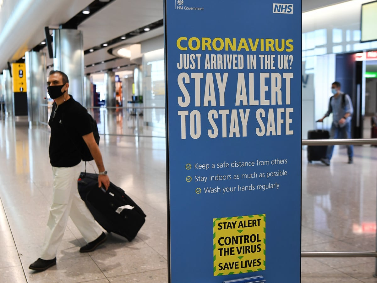 Battered Travel Industry Urges Uk To Rethink Covid 19 Quarantine Policy World News The Guardian