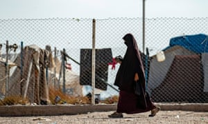 A woman in the al-Hol camp