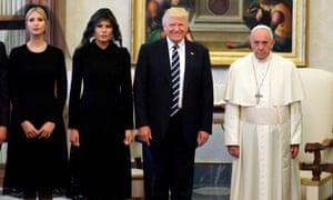 Pope Francis, Donald, Melania and Ivanka Trump