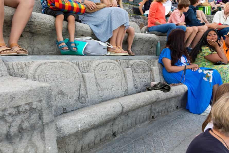 Carved stone seats