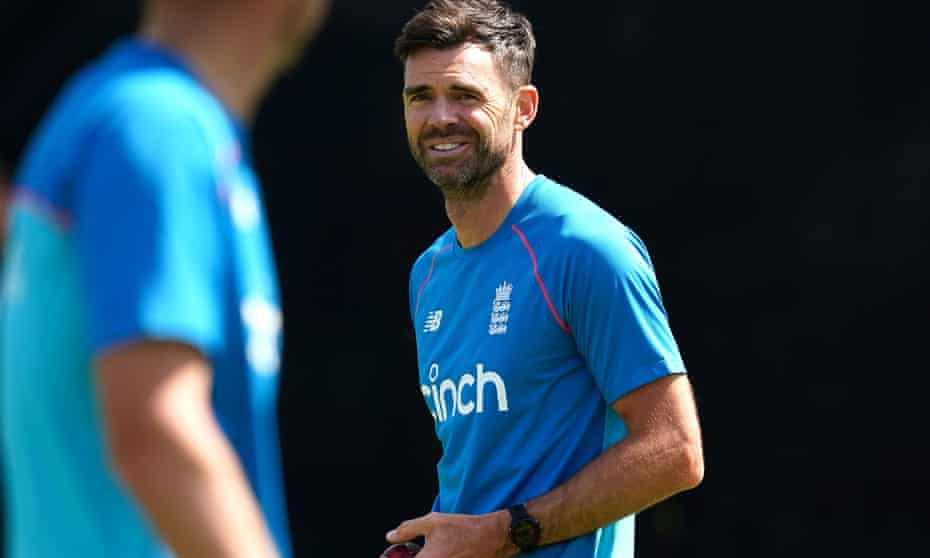 Jimmy Anderson in training