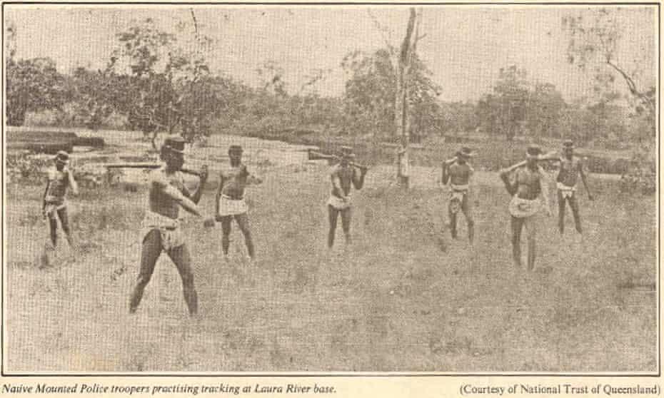 Native police undergoing training