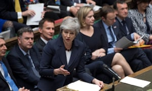 Theresa May addresses the House of Commons on 27 March 2019