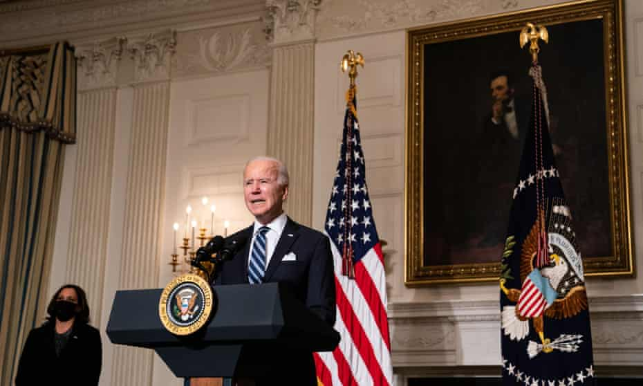 Joe Biden delivers remarks on his administration's response to the climate crisis at White House event on 27 January, 2021