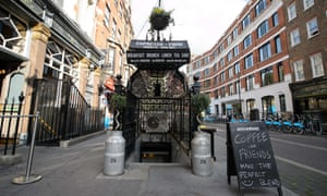 A former public toilet that has been converted into a coffee shop and sandwich bar in central London.