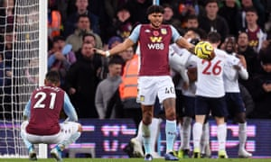 Villa's Tyrone Mings and Ahmed Elmohamady can't believe it.