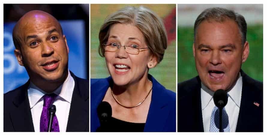 Cory Booker, Elizabeth Warren, and Tim Kaine are rumored options.