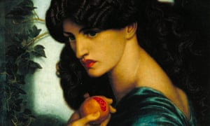 A detail from Rossetti's Proserpine (1874), which inspired the early photographers