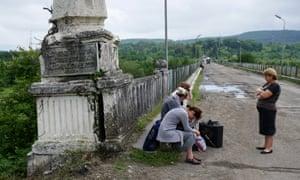 The bridge which separates Abkhazia from Georgia.