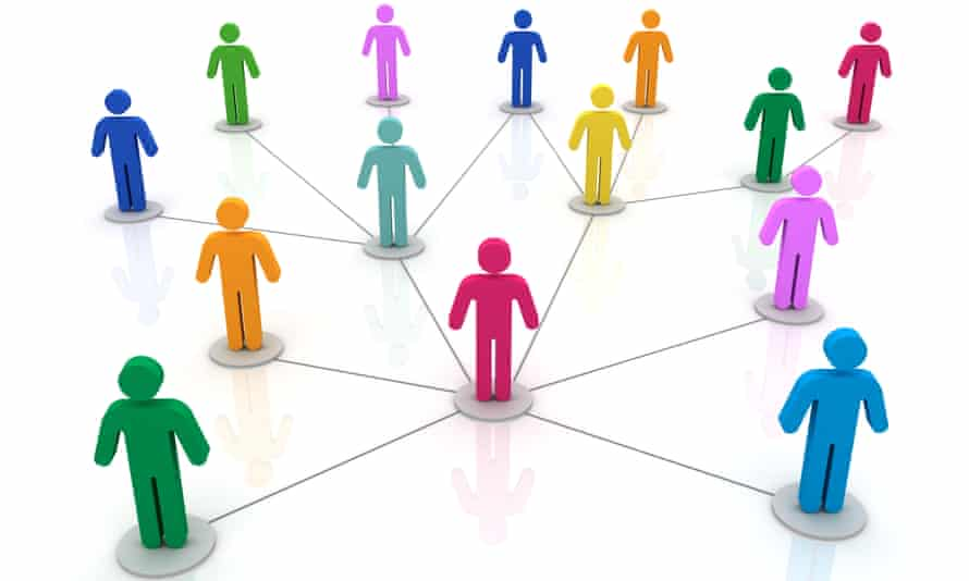 People network connections 3d illustration