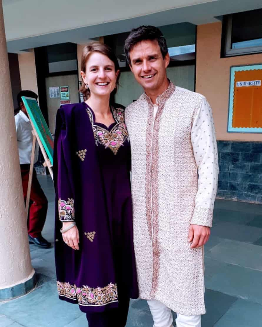Pippa and Chad Baxter are stuck in Bangalore, India, until late June, after one of their repatriation flights was cancelled