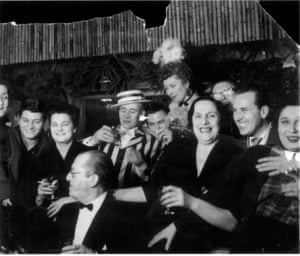 A very early photograph of the Colony Room Club, believed to have been taken in the 1940s and featuring the original bamboo-dominated decor. Muriel Belcher, who founded the club in 1948, is centre, right of the typically louche crowd. Tales from the Colony Rooms: Art and Bohemia, is at Dellasposa, London, from 15 September to 20 December