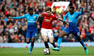 action from man united v arsenal