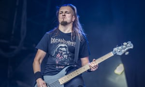 Hubert Wiecek of Decapitated performs at Bloodstock festival this year.