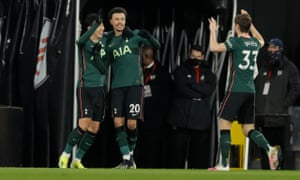 Spurs hold a slender lead against relegation-threatened Fulham