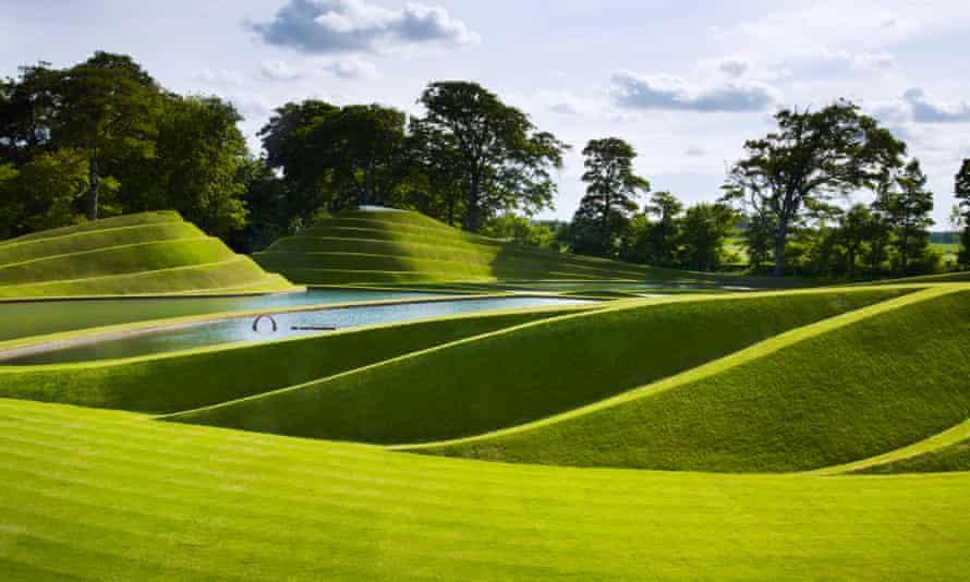 Charles Jencks' Cells of Life landscape at the Jupiter Artland sculpture park and gallery.