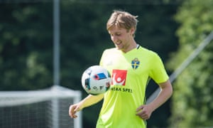 Emil Forsberg's father and grandfather played in the Swedish top flight, Allsvenskan.