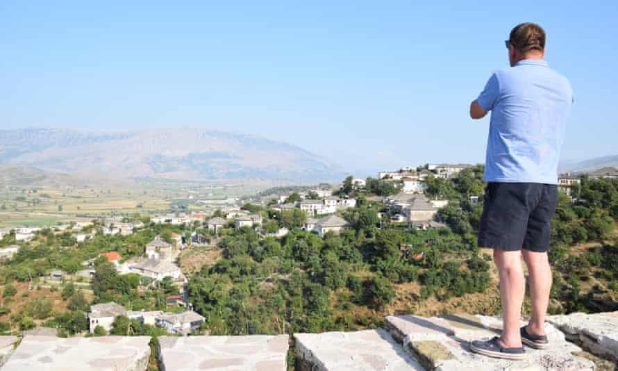 Tharik Hussain's friend and guide Idar gazes across Gjirokastër