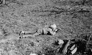 'A terror of boredom' … Dave Parr playing in the garden aged five.