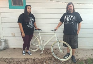 Melissa and Steve Sims of Houston Ghost Bike.