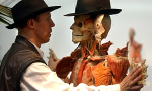 Gunther von Hagens, creator of the exhibition Body Worlds, with one of his specimens.