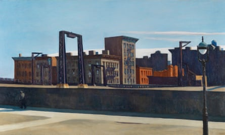 Manhattan Bridge Loop, 1928, by Edward Hopper from America's Cool Modernism at the Ashmolean Museum, Oxford.