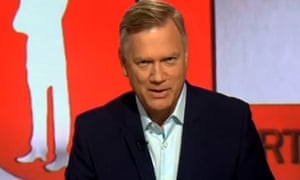 Andrew Bolt on the set of The Bolt Report on Channel Ten