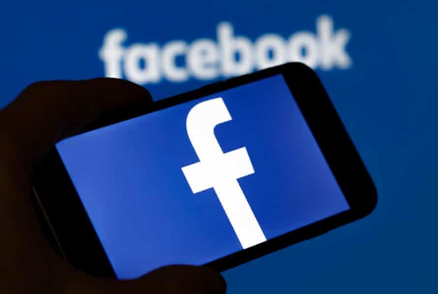 Facebook on a smartphone.
