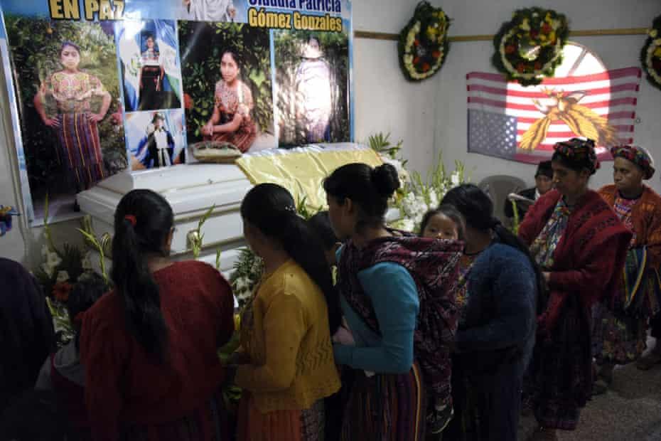People attend the wake of Claudia Patricia Gómez González in the village of Los Mendoza in western Guatemala last year.
