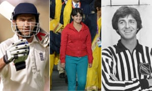 Sporting imposters Karl Power, Madhura Nagendra and Barry Bremen