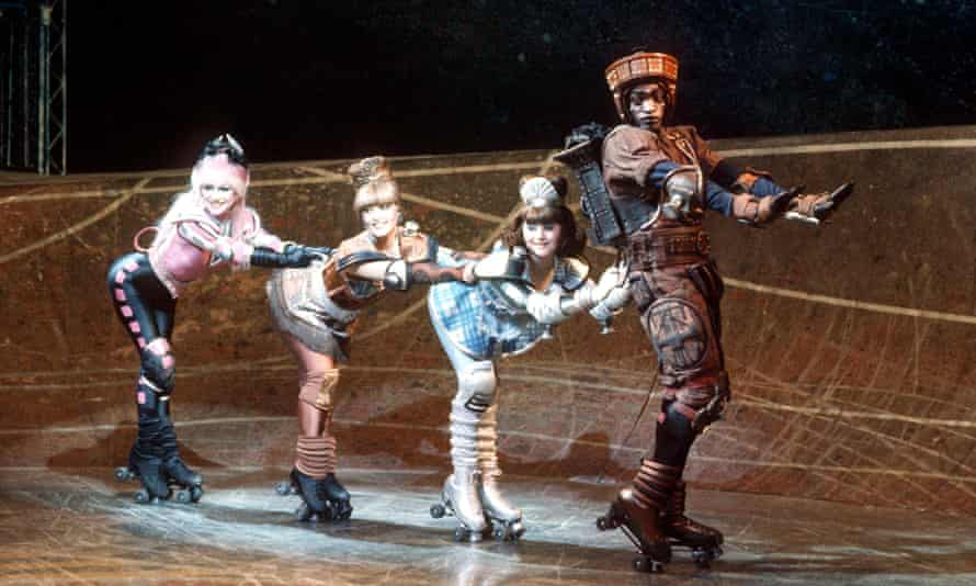 As immersive as theatre got … the original Starlight Express cast in 1984.