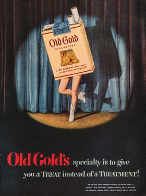 Old Gold employed George Petty, the Esquire pinup artist of the time, who painted his 'Petty girls' as a monthly advertising come-on to design ads such as this 1950 example