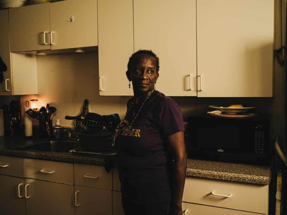 Baltimore HeatKaren Lewis at her home in Baltimore. Lewis is in the middle of a set of row houses and says it can get so hot sometimes she has trouble breathing.
