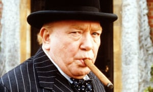 Albert Finney as Winston Churchill in the BBC's The Gathering Storm, 2002.