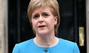 Nicola Sturgeon speaks to the media in Edinburgh on Saturday.