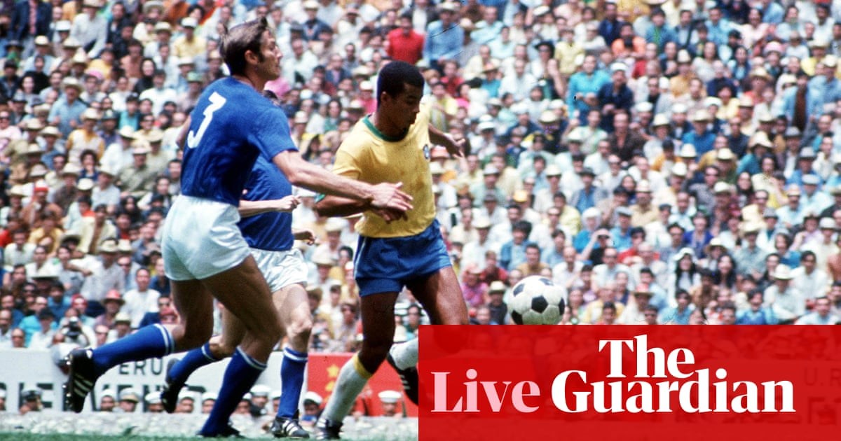 7df650ea314 World Cup final 1970  Brazil v Italy – as it happened