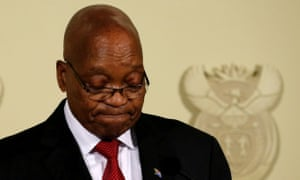 Jacob Zuma speaking in Pretoria yesterday.