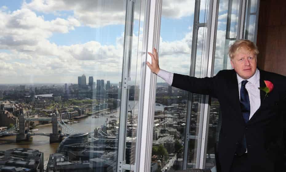 Boris Johnson in the Shard, London, 2014.